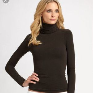 NWT SPANX Classic Chic Turtleneck Brown Size XL
